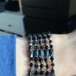 Jewelry - Versatile hematite (magnetic) bracelet/necklace